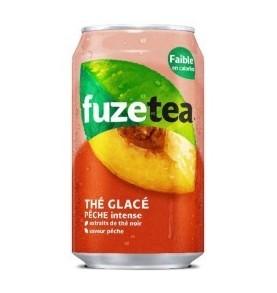 Boisson canette FUZE TEA  - Thé glacé à la pèche