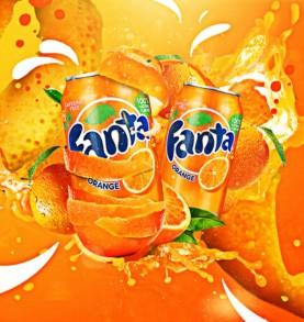 canette FANTA - Orange