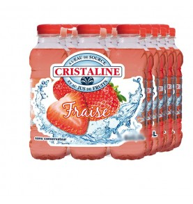 CRISTALINE - Eau aromatisé Fraise